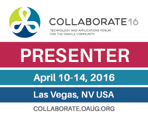 Collaborate 16 presenter